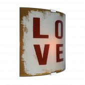 Love Höhe 26,5 cm braun 1-flammig rechteckig