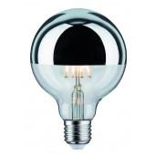 LED Globe 95, E27, 5W, 2700K, silber