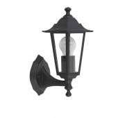 Crown Höhe 31 cm schwarz 1-flammig viereckig