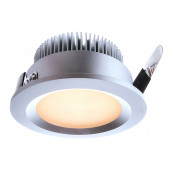 LED, 3 Watt, warmbiały, silber
