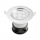 LED Einbaustrahler Ø 12,5 cm metallisch 1-flammig rund