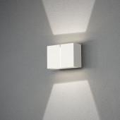 Pavia Breite 16,5 cm weiß 2-flammig quaderförmig