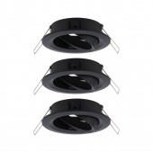 Choose 3er-Set Ø 8,4 cm schwarz 1-flammig rund