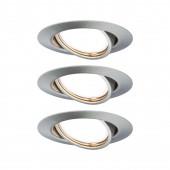 EBL Base 3er-Set Ø 9 cm metallisch 1-flammig rund