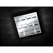 Dover 40 x 40 cm metallisch 6-flammig quadratisch