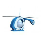 Hubschrauber Länge 65 cm blau 1-flammig rund