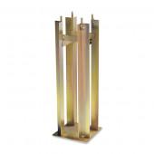 Fundament Höhe 50 cm gold rechteckig