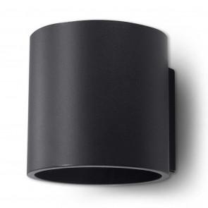 Orbis 1 Höhe 12 schwarz 2-flammig zylinderförmig