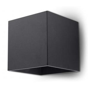 Quad 1 Breite 12 cm schwarz 2-flammig quaderförmig