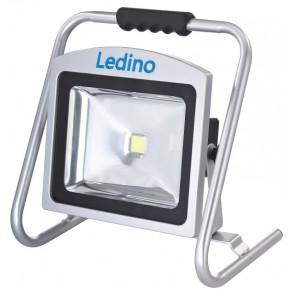 LED-Akkustrahler Höhe 37,5 cm metallisch 1-flammig rechteckig