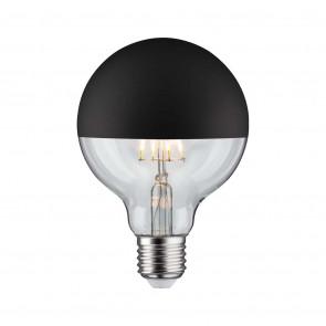 LED Globe 95, E27, 5W, 520lm, 2700K, dimmbar, Kopfspiegel, schwarz (matt)