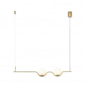 Le Vita Länge 103 cm gold 2-flammig kugelförmig