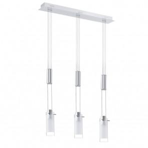 Aggius, LED, 3-flammig, höhenverstellbar, Chrom