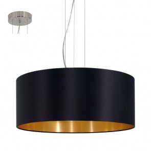 Maserlo, czarny, gold, 53 cm