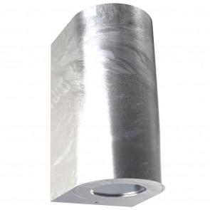 Canto Maxi 2 Höhe 16 cm metallisch 2-flammig halbrund