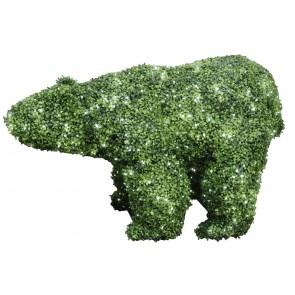 Gras-Bär mit LED-Lichterkette