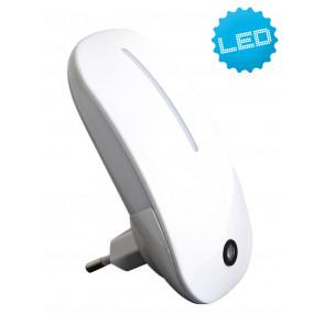 Deko-LED Nachtlicht Höhe 11,3 cm weiß 1-flammig oval