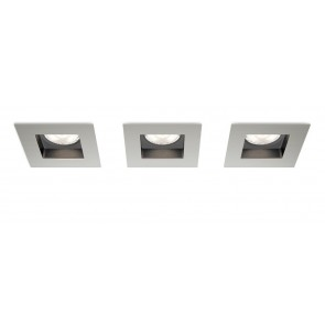 Porrima, LED, matt-verchromt, 3er-Set