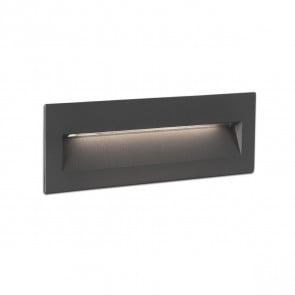 Nat Recessed Dark Grey LED 6W 3000K