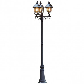 Parma Höhe 218 cm schwarz 3-flammig rund