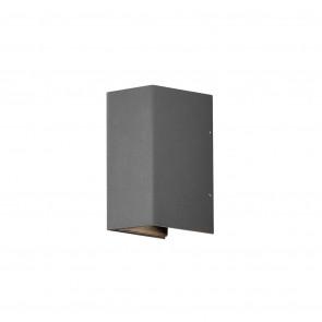 Cremona Höhe 17 cm grau 2-flammig quaderförmig