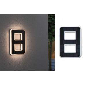 Outdoor Solar Hausnummer 8 Höhe 23 cm schwarz 1-flammig eckig