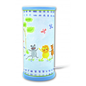Designers Guild Jungle Höhe 21 cm blau 1-flammig zylinderförmig