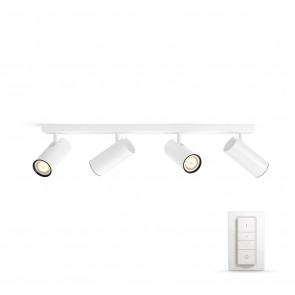 Buratto, LED, 4flg., 1000lm, weiß, inkl. Dimmschalter