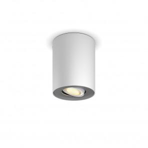 Pillar Höhe 12 cm weiß 1-flammig zylinderförmig