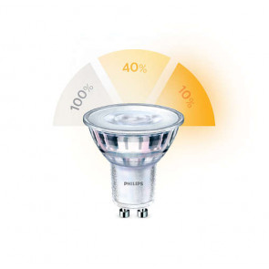 LED SceneSwitch GU10 (PAR16) 5W-3,5W-1,5W (ersetzt 50W), warmweiß 2200-2700K