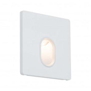 Wandeinbauleuchte 7,8 x 7,8 cm weiß 1-flammig quadratisch