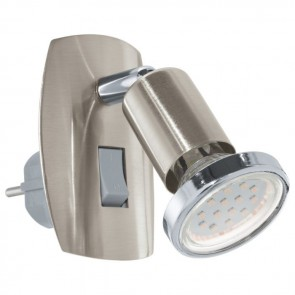 Mini 4, LED, mit beweglicher Achse, nickel-matt