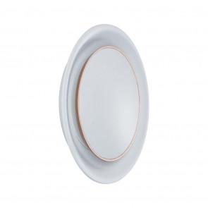 Dekorativ Ø 12,3 cm weiß 1-flammig rund