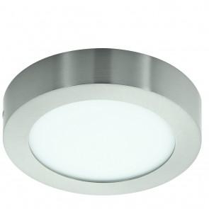Fueva 1, LED, Höhe 3,5 cm, Ø 17 cm, nickel-matt