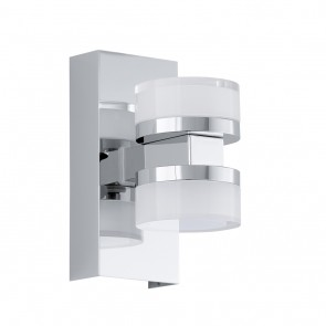 Romendo, LED, 2-flammig, Höhe 15,5 cm, IP44, chromfarben