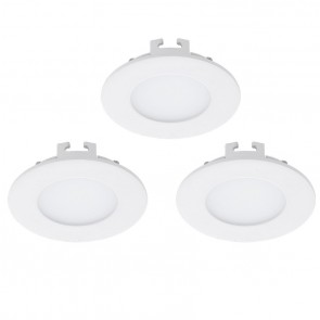 Fueva 1, LED, 3er-Set, Ø 8,5 cm, weiß