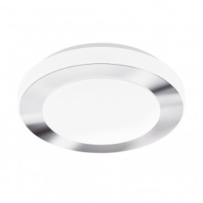 LED Carpi, Ø 30 cm, IP44, Chrom