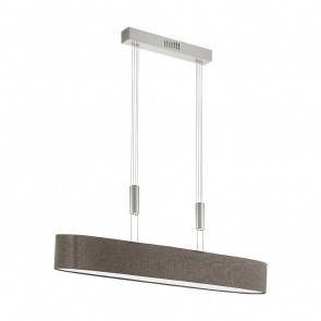 Romao 2, LED, höhenverstellbar, Länge 105 cm, braun