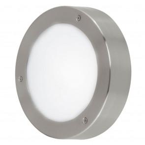 Vento 2, LED, IP44, Ø 18,5 cm, metallisch