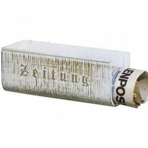 Zeitungshalter, Alu, biały-gold