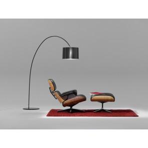 Roxx, Höhe 188,8 cm, geriffelter PVC-Schirm, schwarz