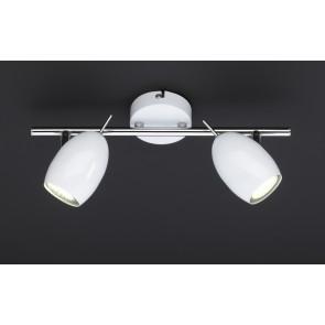 Quincy, 2-flammig, Länge 34 cm, inkl LED, weiß