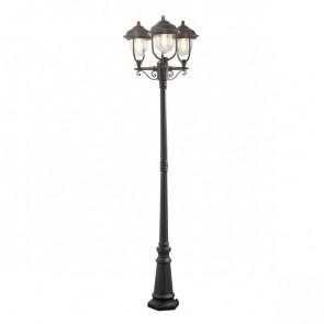 Parma Höhe 218 cm schwarz 3-flammig eckig