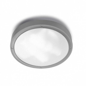 Basic Ø 30 cm grau 1-flammig rund