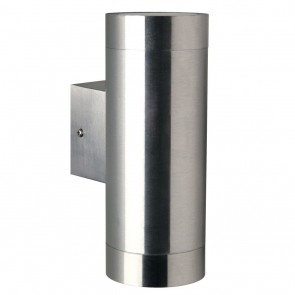 Tin Maxi, 2-flammig, Höhe 19 cm, Ø 7,6 cm, IP54, metallisch